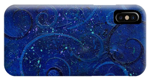 iPhone Case - Fantasy Blues by Julie Acquaviva Hayes