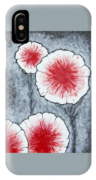 IPhone Case featuring the painting Fantasy Flowers In Red No 2 by Ben Gertsberg