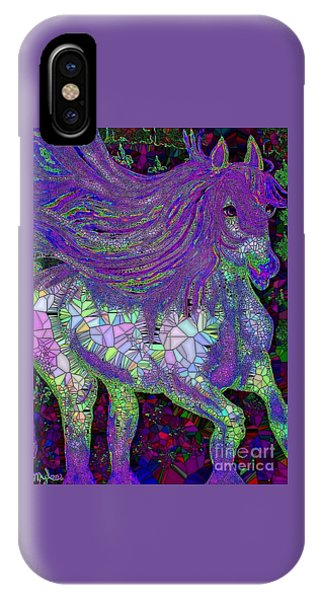 Fantasy Horse Purple Mosaic IPhone Case