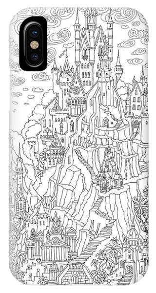 Palace iPhone X Case - Fantasy Landscape. Fairy Tale Castle On by L. Kramer