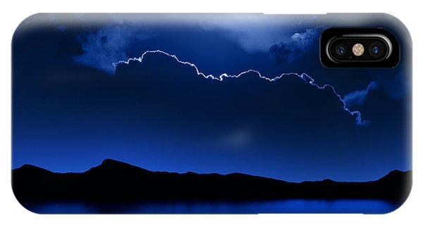 Full Moon iPhone Case - Fantasy Moon And Clouds Over Water by Johan Swanepoel