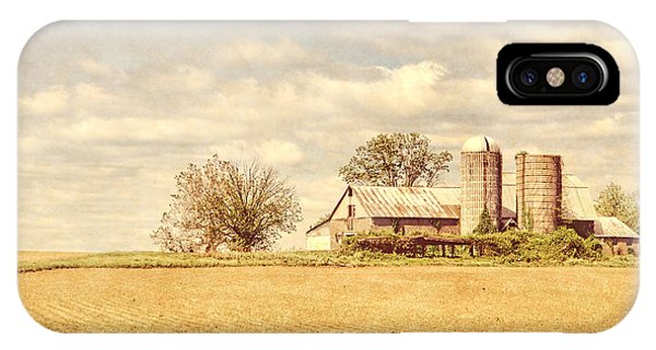 Silo iPhone Case - Farm And Fields  by Olivier Le Queinec
