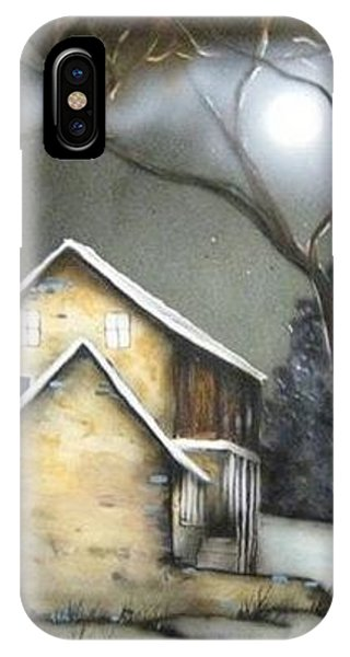 Farm At Night Phone Case by Kendra Sorum