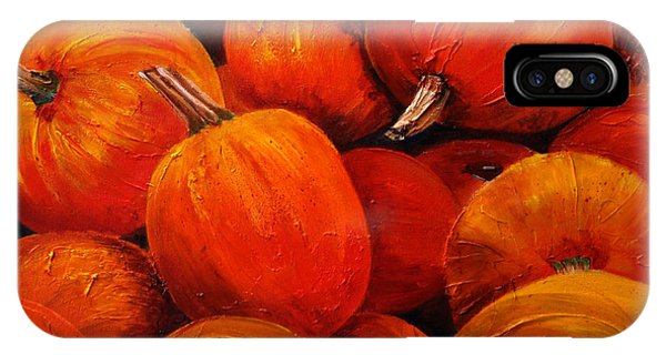 Farm Market Pumpkins IPhone Case