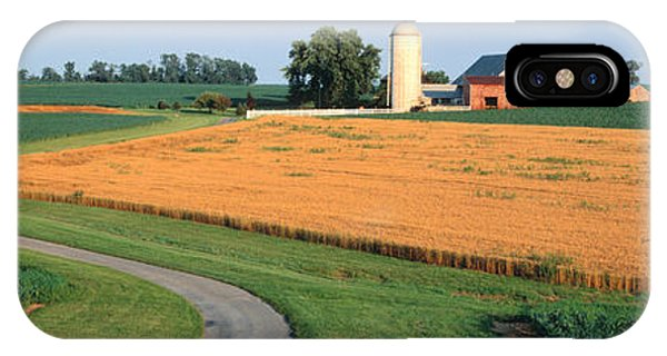 Silos iPhone Case - Farm Nr Mountville Lancaster Co Pa Usa by Panoramic Images