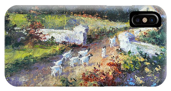 Farm Scene With Goats I IPhone Case