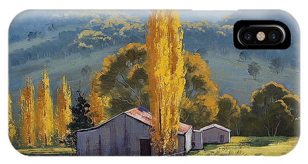 Farm Sheds Painting IPhone Case