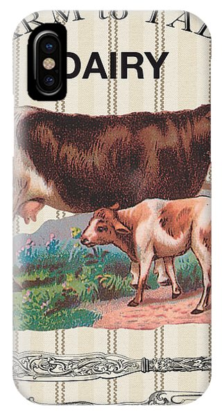 Fork iPhone Case - Farm To Table-jp2111 by Jean Plout