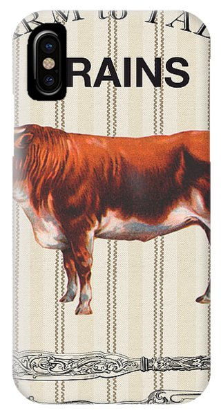Fork iPhone Case - Farm To Table-jp2113 by Jean Plout