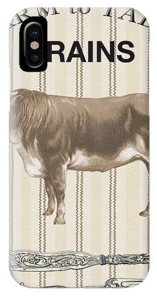 Fork iPhone Case - Farm To Table-jp2114 by Jean Plout