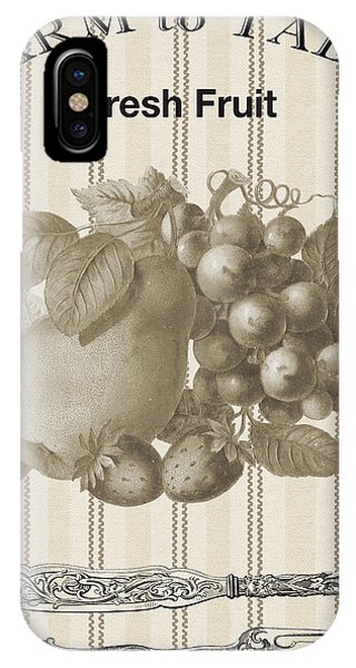 Fork iPhone Case - Farm To Table-jp2118 by Jean Plout