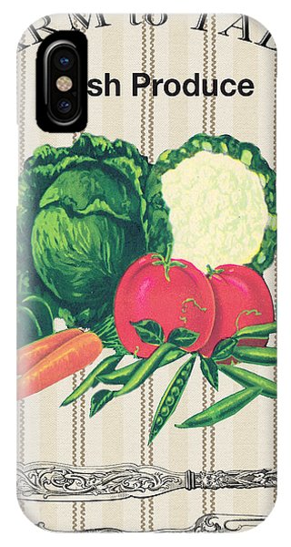 Fork iPhone Case - Farm To Table-jp2124 by Jean Plout
