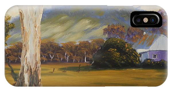 Farm With Large Gum Tree IPhone Case