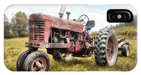 Farmall Tractor Dream - Farm Machinary - Industrial Decor IPhone Case