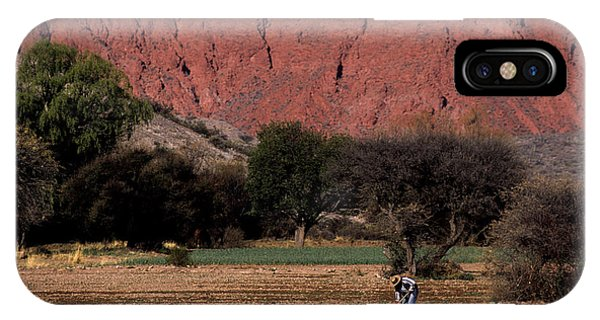 Farmer In Field In Northern Argentina IPhone Case