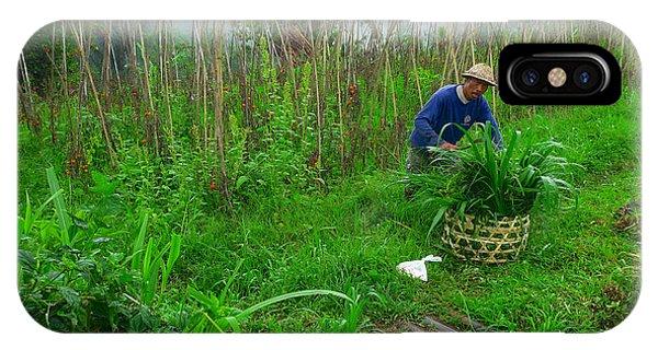Farmer In Bali IPhone Case