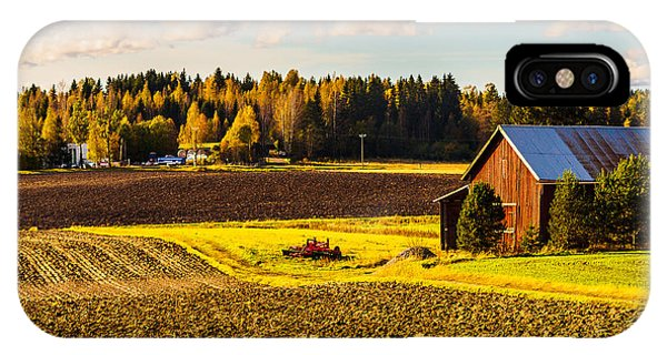Farmer's Sunny Autumn Day IPhone Case