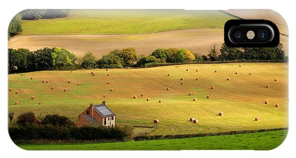 Farmhouse In English Field IPhone Case