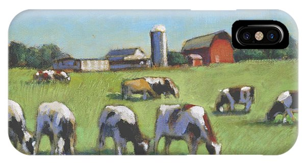 Farming In The Dell Phone Case by David Zimmerman