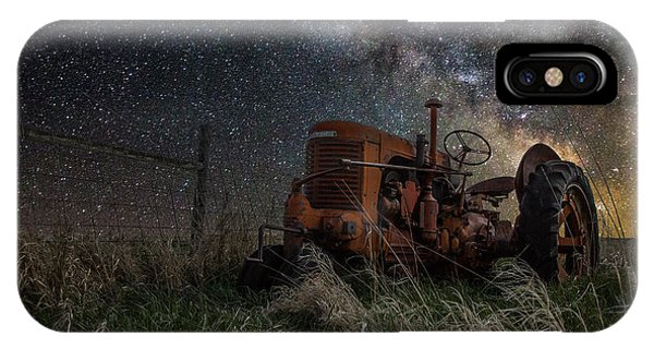 Light Paint iPhone Case - Farming The Rift by Aaron J Groen