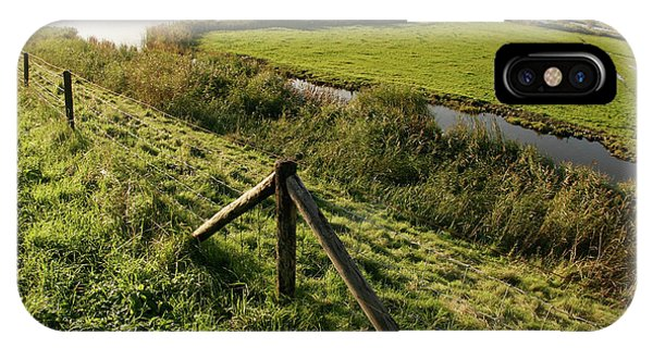 Drain iPhone Case - Farmland In Holland by Chris Martin-bahr/science Photo Library