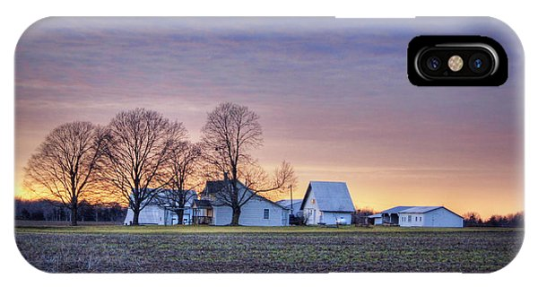 Farmstead At Sunset IPhone Case