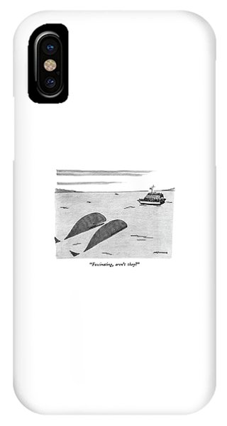 Whales iPhone Case - Fascinating by Mick Stevens