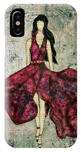 Fashionista Mixed Media Painting By Janelle Nichol IPhone Case