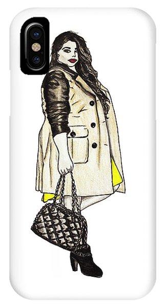 Fatshionista #2 Phone Case by Micaela Shambee