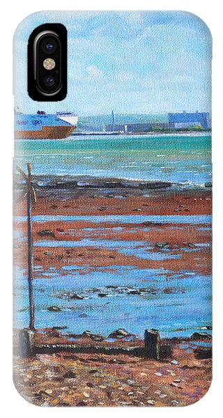Fawley Power Station From Weston Shore Hampshire IPhone Case