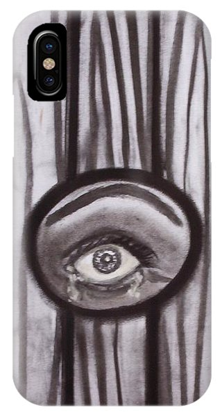 Fear - Eye Through Fence IPhone Case