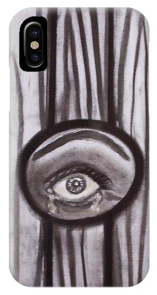 Fear - Eye Through Fence IPhone Case