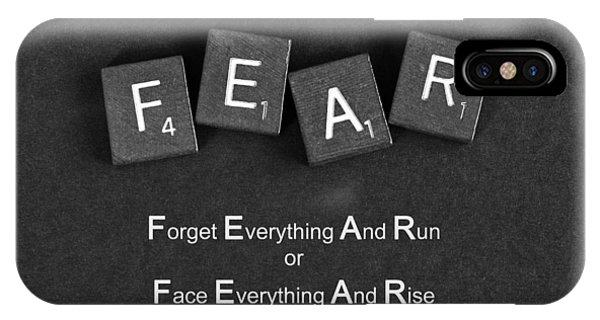 Fear Inspirational Quote IPhone Case