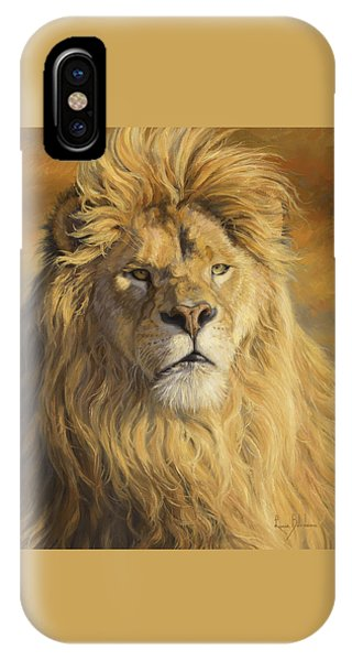 Lions iPhone Case - Fearless - Detail by Lucie Bilodeau