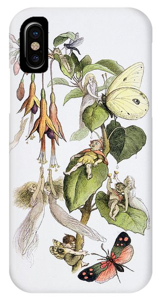 Elf iPhone X Case - Feasting And Fun Among The Fuschias by Richard Doyle