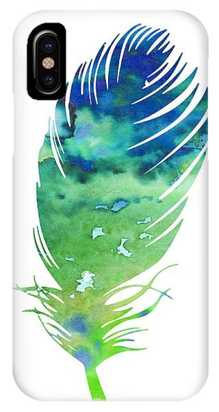 Cute iPhone Case - Feather 3 by Watercolor Girl
