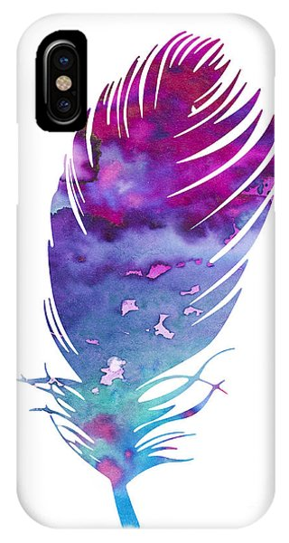Cute iPhone Case - Feather 4 by Watercolor Girl