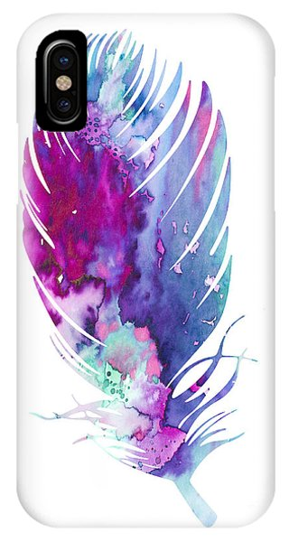 Cute iPhone Case - Feather 6 by Watercolor Girl
