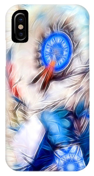 Feather Abstract In Blue IPhone Case