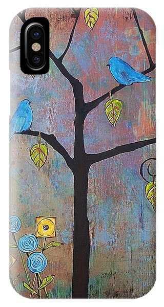 Bluebird iPhone Case - Feathered Friends by Blenda Studio