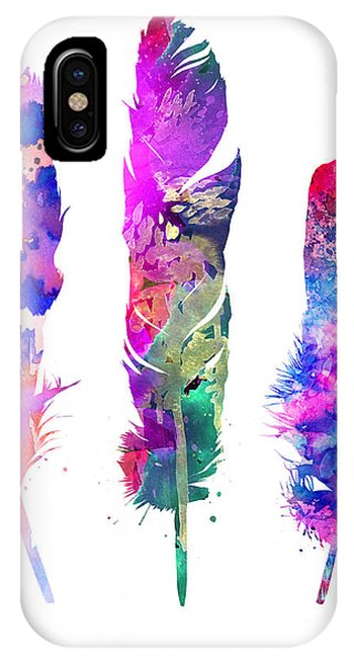 Cute iPhone Case - Feathers 3 by Watercolor Girl