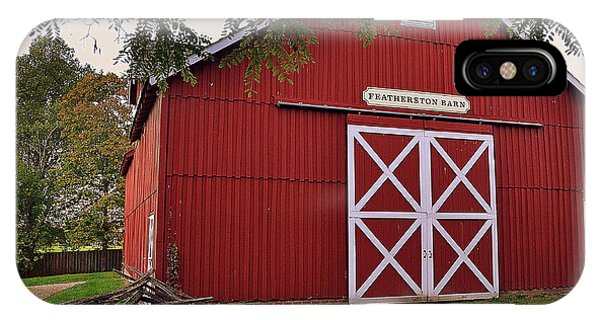 Featherstone Red Barn IPhone Case
