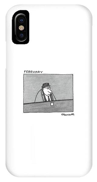 Gloomy iPhone Case - February by Charles Barsotti