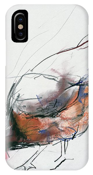 Rooster iPhone Case - Feeding Hen, Trasierra by Mark Adlington