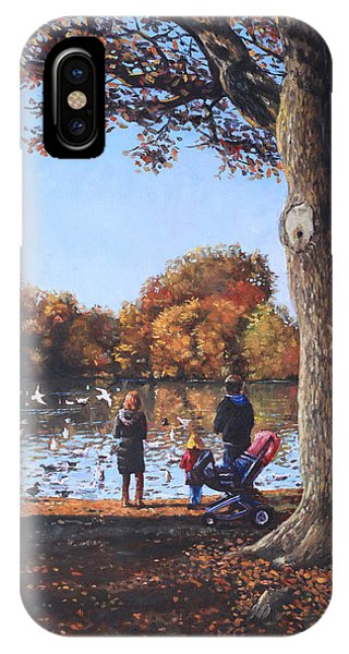 Feeding The Ducks At Southampton Common IPhone Case