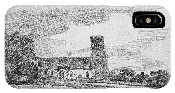 Pastel Pencil iPhone Case - Feering Church, 1814 by John Constable