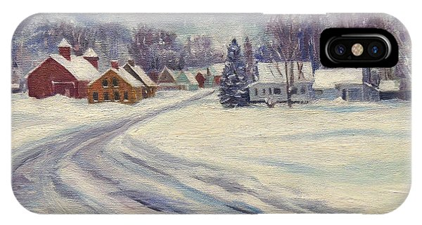 Felchville Village In The Snow IPhone Case