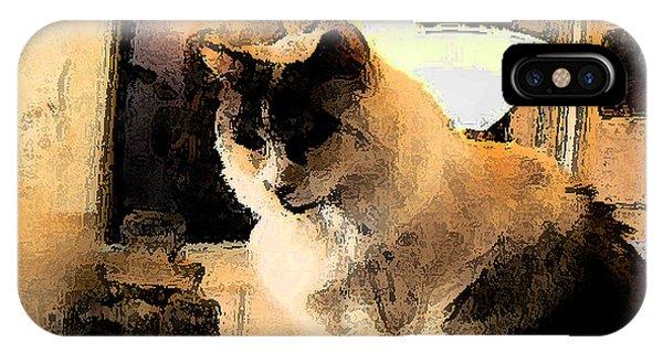 Feline Rodin IPhone Case