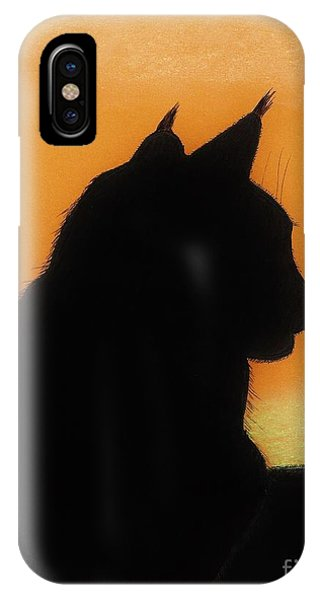 Feline - Sunset IPhone Case