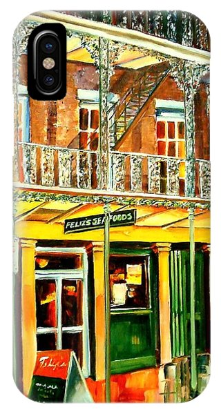 Oyster Bar iPhone Case - Felixs Oyster Bar by Diane Millsap